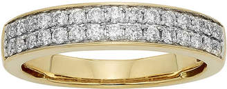 JCPenney MODERN BRIDE 1/2 CT. T.W. Certified Diamond Double-Row 14K Yellow Gold Wedding Band