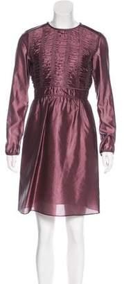 Burberry Silk-Blend Knee-Length Dress