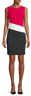 Tommy Hilfiger Colourblocked Scuba Sheath Dress