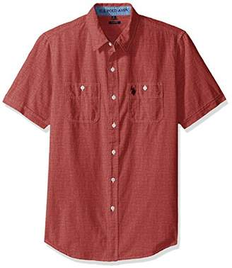 U.S. Polo Assn. Men's Solid Short Sleeve Slim Fit Two Pocket Sport Shirt