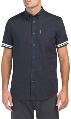 Short Sleeve Rib Cuff Shirt