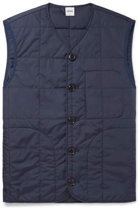 Aspesi Thermore Slim-Fit Quilted Shell Padded Gilet - Men - Blue