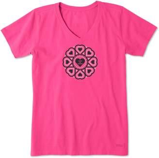 Life is Good Primal Heart Crusher V-Neck Shirt