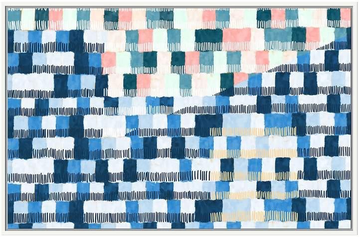 Jonathan Bass Studio Blue Tiles (Framed Canvas)