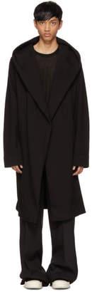 Rick Owens Black Spa Robe Cardigan