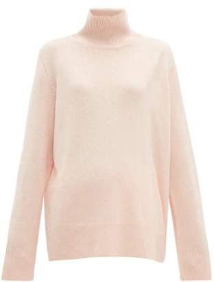 The Row Milina Roll Neck Wool Blend Sweater - Womens - Light Pink