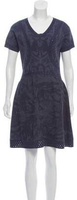 Chanel Patterned Knee-Length Dress