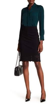 Amanda & Chelsea New Scallop Hem Lazer Cut Skirt