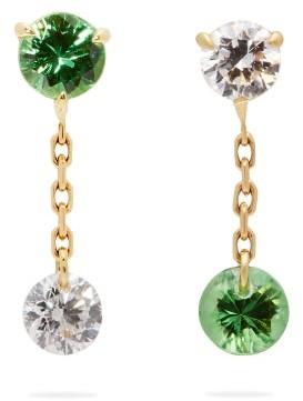 Raphaele Canot - Set Free 18kt Gold, Tsavorite & Diamond Earrings - Womens - Green