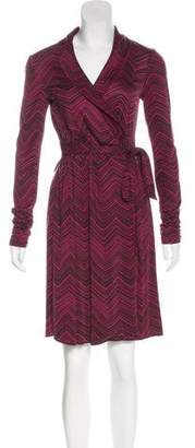 Trina Turk Long Sleeve Wrap Dress