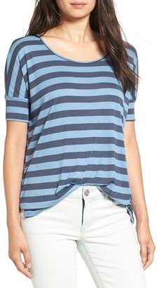 Volcom 'Don't Tell' Stripe Scoop Neck Tee $32 thestylecure.com