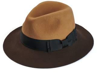 c9756b22ff3 Justine Hats - Two Tone Felt Fedora Hat