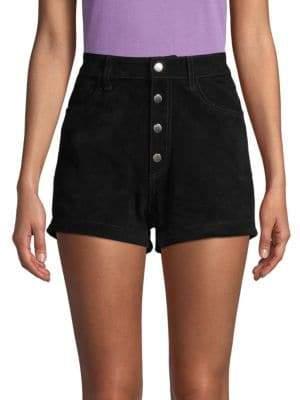 Rag & Bone Lou Button High-Waist Shorts