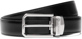 Montblanc 3cm Black And Brown Reversible Leather Belt