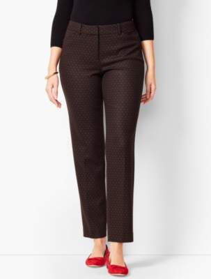Talbots Hampshire Ankle Pants - Red Dot/Curvy Fit