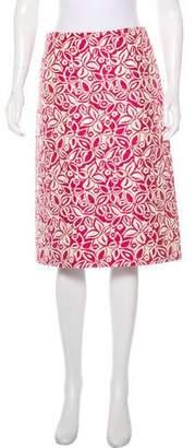 Barneys New York Barney's New York Embroidered Metallic Skirt