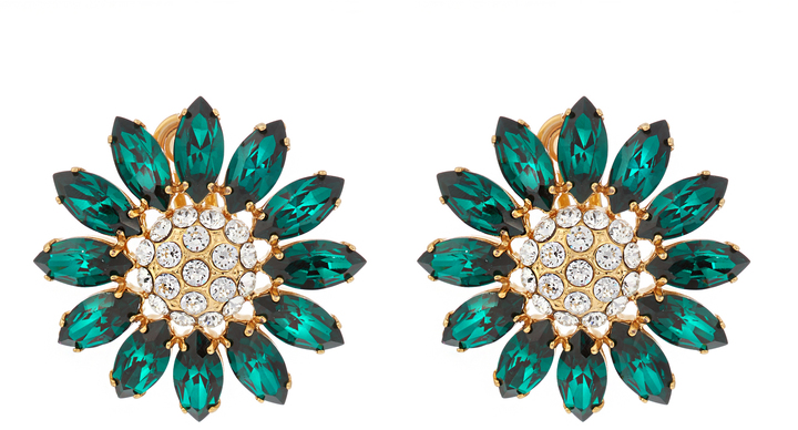 Miu MiuMIU MIU Flower crystal-embellished earrings