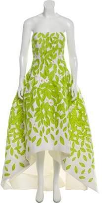 Oscar de la Renta Floral Embroidered Gown w/ Tags