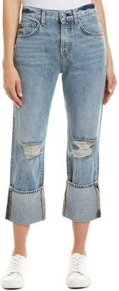 7 For All Mankind Seven 7 Rickie Mld3 Wide Cuff Crop