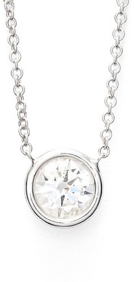 Women's Bony Levy Large Diamond Solitaire Pendant Necklace (Limited Edition) (Nordstrom Exclusive) $2,995 thestylecure.com