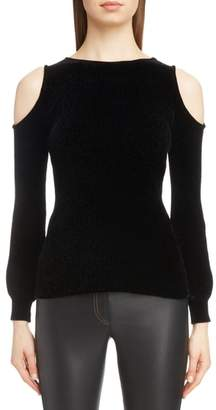 Loewe Cold Shoulder Chenille Sweater