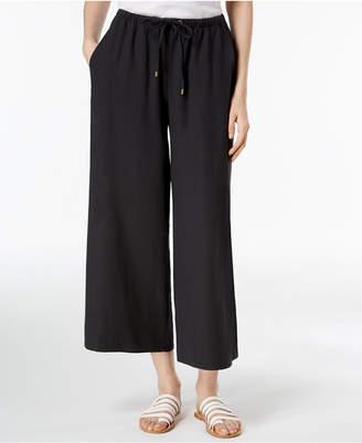 Eileen Fisher Silk Wide-Leg Cropped Pants, Regular & Petite