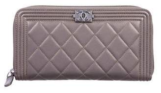 Chanel Boy L-Gusset Wallet