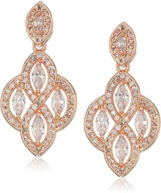 Anne Klein Pave Chandelier Post Drop Earrings