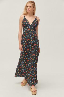 Capulet UO Exclusive Odille Floral Side-Slit Maxi Dress