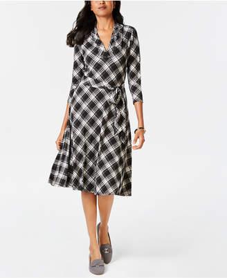 Charter Club Petite Plaid Fit & Flare Dress