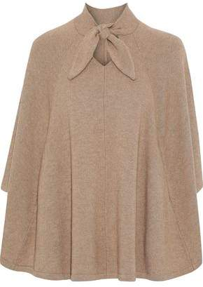 Co Tie-neck Draped Wool And Cashmere-blend Sweater