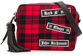 John Richmond Junior Rock n' roll checked shoulder-bag