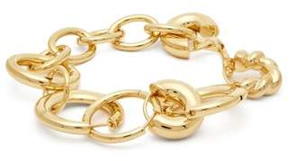 Balenciaga Linked Hoop Bracelet - Womens - Gold