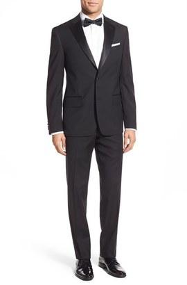 Men's Nordstrom Men's Shop Trim Fit Wool Tuxedo $429 thestylecure.com