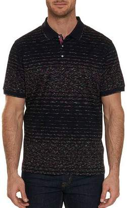 Robert Graham Glover Gradiated Space-Dye Polo Shirt