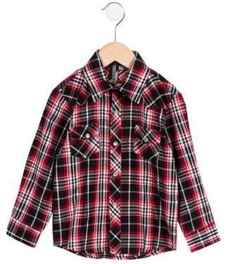 Knuckleheads Boys' Long Sleeve Plaid Shirt