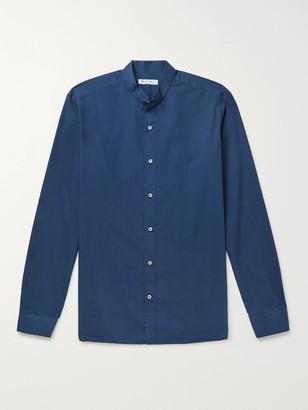 Loro Piana Alvin Slim-Fit Grandad-Collar Cotton Shirt