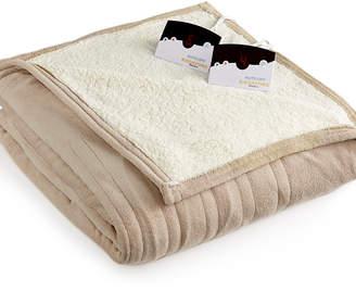 Biddeford Microplush Reverse Faux Sherpa Heated Queen Blanket Bedding