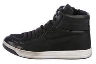 Prada Sport Nylon High-Top Sneakers
