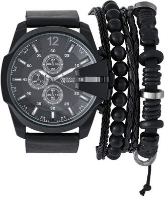 N. American Exchange MST5475 Black Watch & Bracelet Set