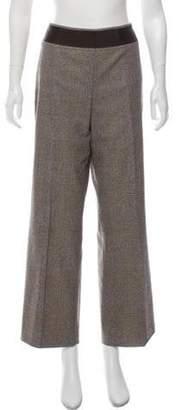 Akris Houndstooth Wool Pants Tan Houndstooth Wool Pants