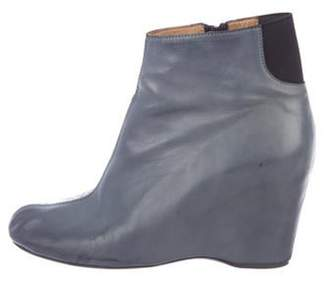 MM6 MAISON MARGIELA Wedge Ankle Boots Blue Wedge Ankle Boots