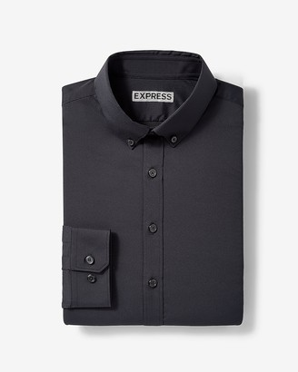 Express Extra Slim Solid Button-Down Wrinkle-Resistant Performance Dress Shirt