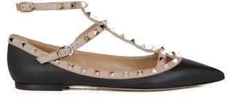 VALENTINO Rockstud leather flats $737 thestylecure.com