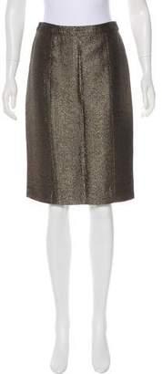 Etro Metallic Pencil Skirt