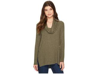 Michael Stars Super Soft Madison Jersey Cowl Neck Tunic Women's Sweater