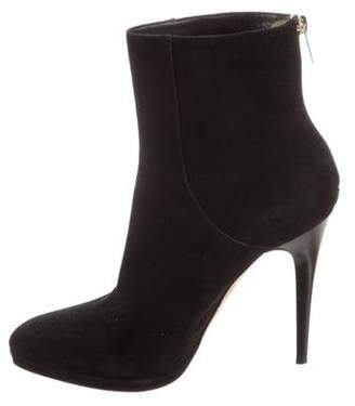 Jimmy Choo Round-Toe Ankle Boots Black Round-Toe Ankle Boots