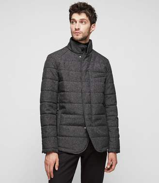 Reiss Hemp Cotton Blend Padded Jacket