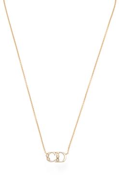 Christian Dior Initials Pendant Necklace