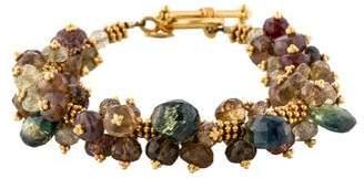 Laura Gibson 22K Multistone Bracelet
